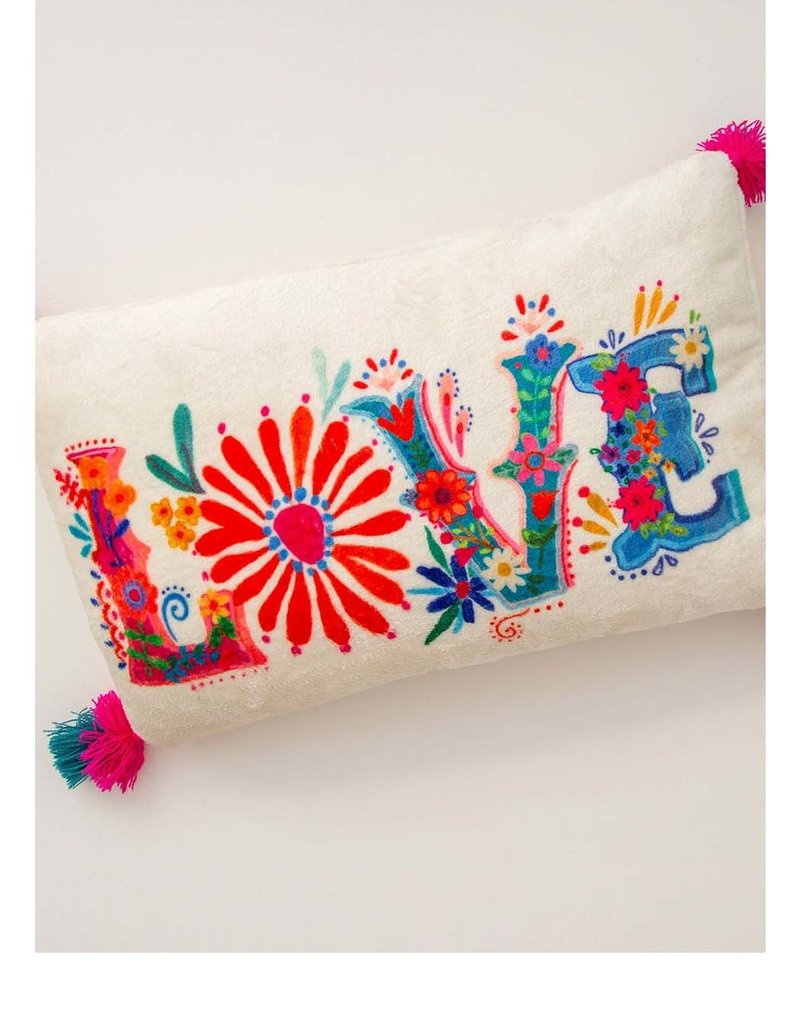 NATURAL LIFE PLW129 Cozy Pillow Love