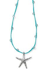 BRIGHTON JL7711 Blue Water Crochet Petite Starfish Necklace
