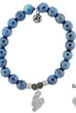 T JAZELLE TJ57099 BLUE AGATE-FLIP FLOP
