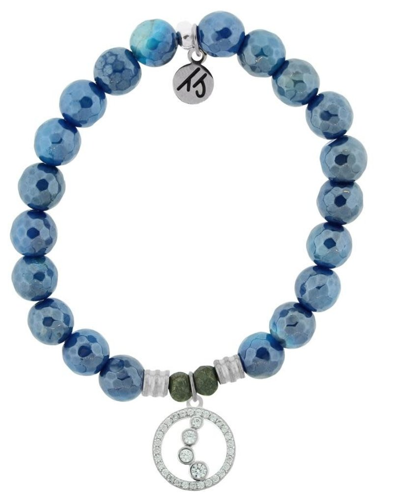 T JAZELLE TJ57105 BLUE AGATE-ONE STEP AT A TIME