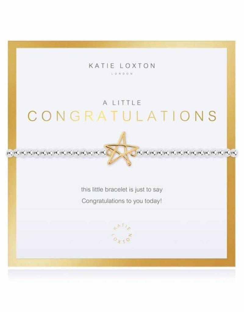 KATIE LOXTON KLJ3537 Beautifully Boxed a little Congratulations Bracelet