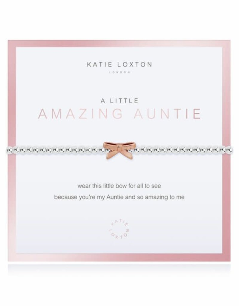 KATIE LOXTON KLJ3540 Beautifully Boxed a little Amazing Auntie Bracelet