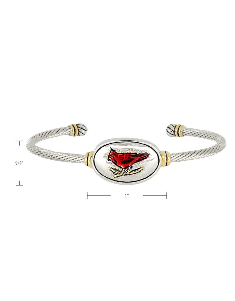 JOHN MEDEIROS B5220-A000 Celebration Memories Red Cardinal Wire Cuff Bracelet