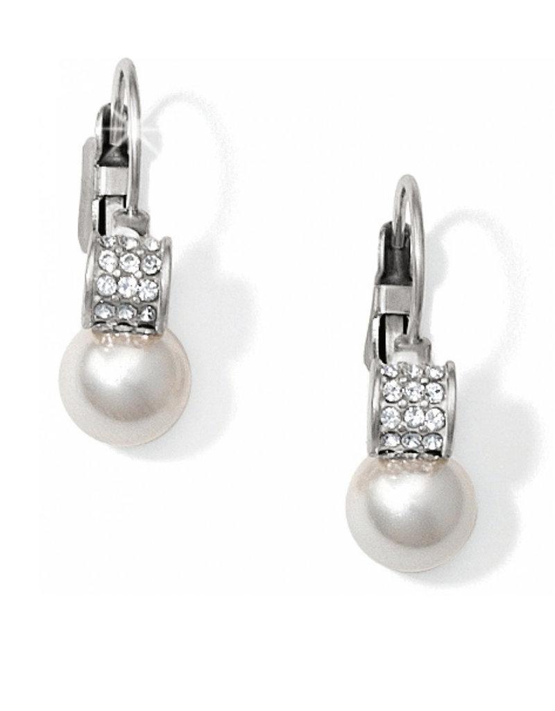 BRIGHTON JA1302 Meridian Petite Pearl Leverback Earrings