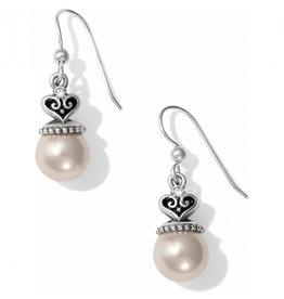 BRIGHTON JA2300 Alcazar Pearl Drop French Wire Earrings