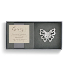 DEMDACO Silver Butterfly Giving Pin by Giving Collection