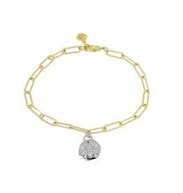 JOHN MEDEIROS B5413-G00P Diamanté Sand Dollar Gold