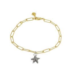 JOHN MEDEIROS B5415-G00P Diamanté Starfish Gold