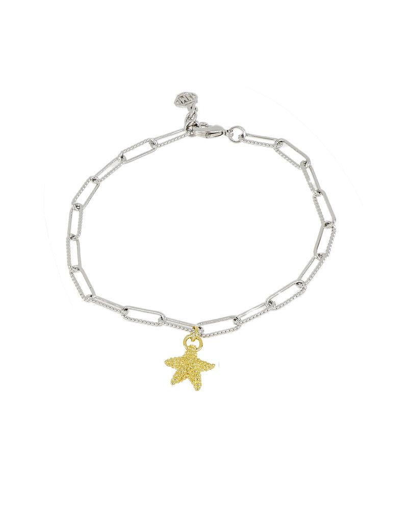 JOHN MEDEIROS B5415-R00P Diamanté Starfish Rhodium