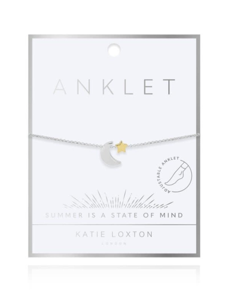 KATIE LOXTON KLJ4239 Two Tone Moon And Star Anklet