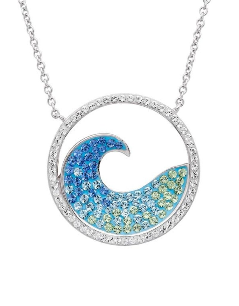 SHANORE Blue Wave Pendant With Aqua Swarovski® Crystals