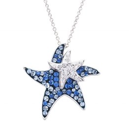 SHANORE SS SW Blue Baby/Mom Star Fish Pendant