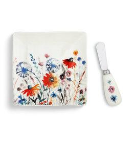 DEMDACO 1004180551Meadow Flowers Plate with Spreader Set