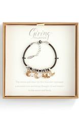 DEMDACO 1004440131Charm Bracelet - Paw Print and Heart