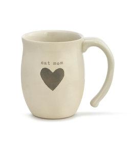 DEMDACO 1004470042Cat Mom Heart Mug