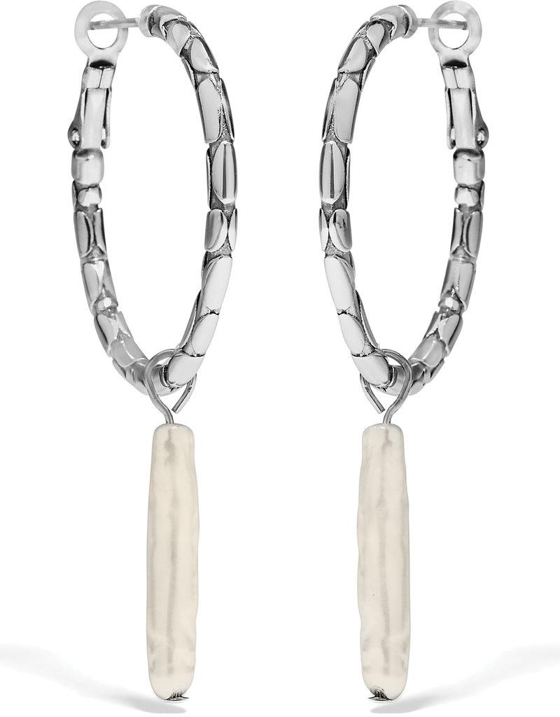 BRIGHTON JA7943 Pebble Pearl Hoop Earrings