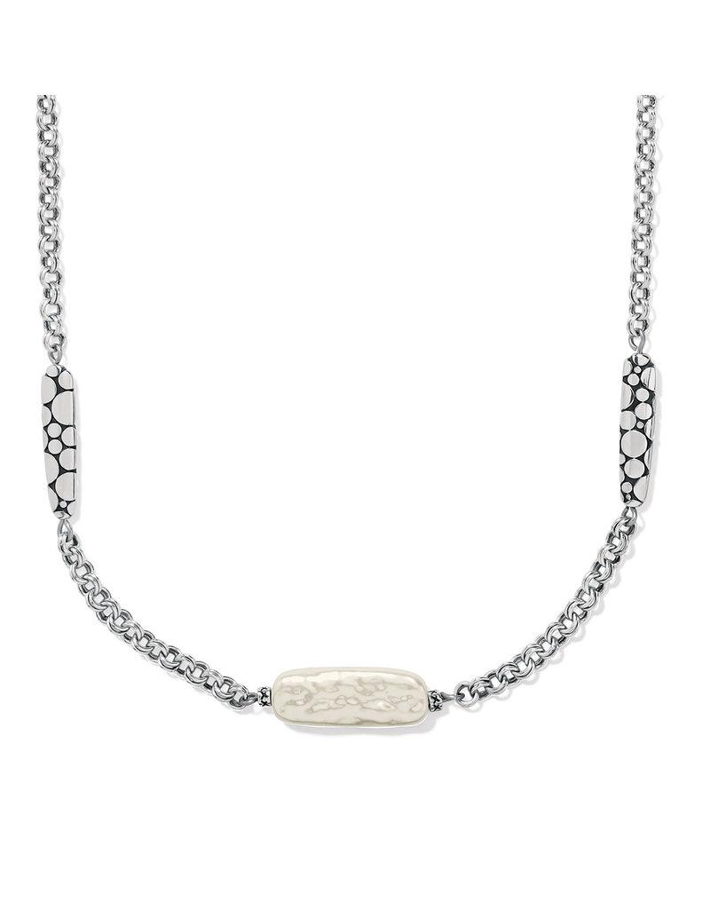 BRIGHTON JM5133 Pebble Pearl Double Link Necklace