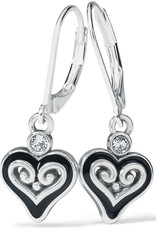 BRIGHTON JA7853 Alcazar Mystique Heart Leverback Earrings