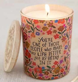 NATURAL LIFE CNDL057 Soy Jar Candle Make My Life better just by being in it