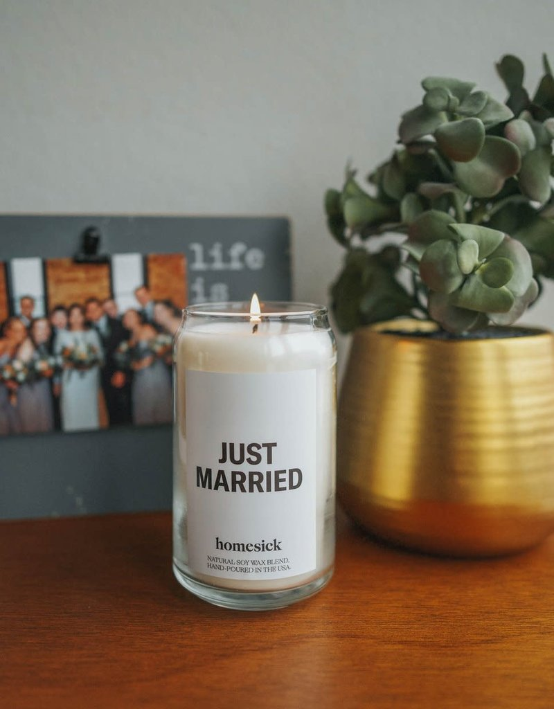 Just Married Candle