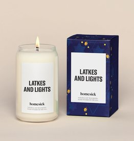Latkes and Lights Candle