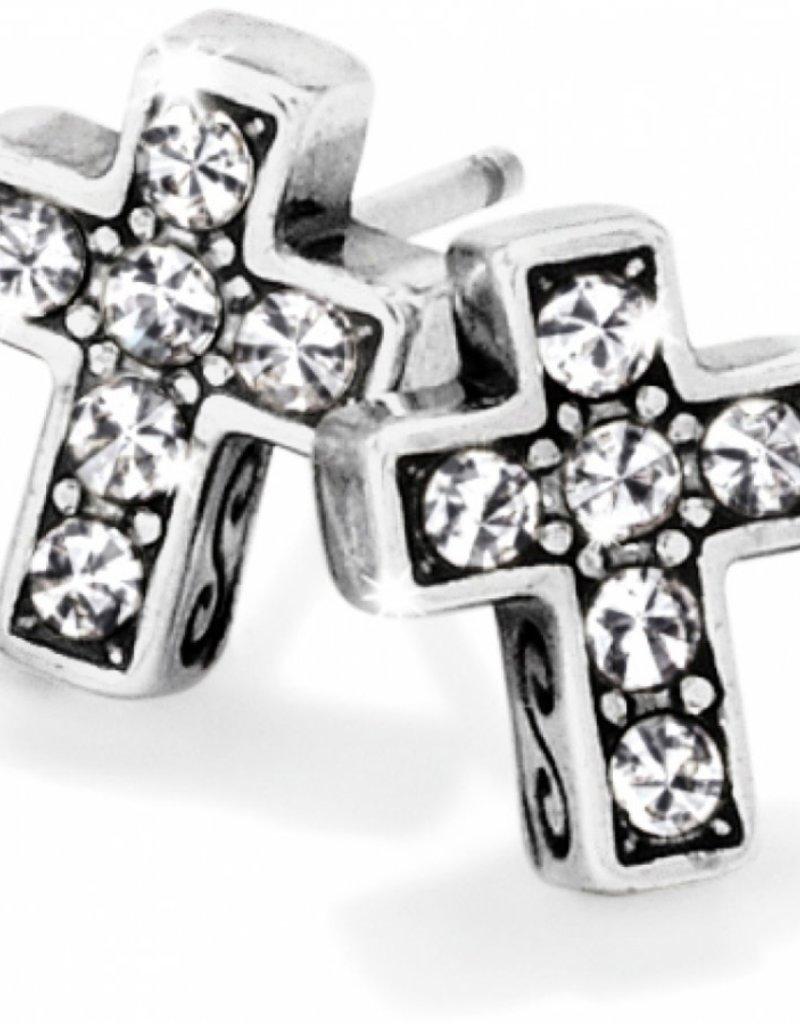 BRIGHTON J21691 Starry Night Cross Mini Post Earrings