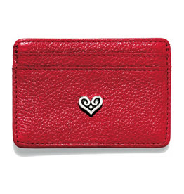 BRIGHTON E30817 BEST WISHES CARD CASE RED