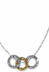 BRIGHTON JL1311 Art & Soul Three Rings Necklace