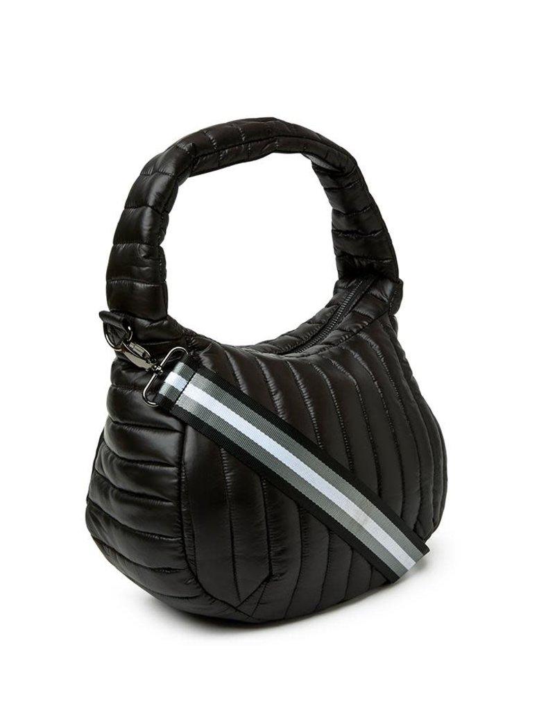 THINK ROYLN MEG SHOULDER BAG SHINY BLACK