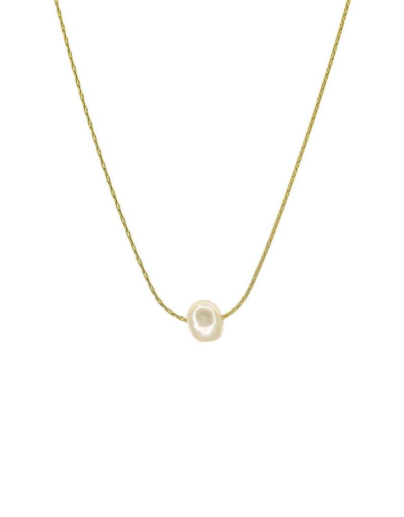 Salty Cali Freshwater Pearl ~ Salty Shells - 18K Gold