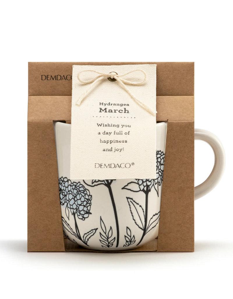 DEMDACO 1004500245 March Birth Flower Mug