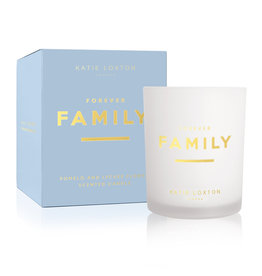 KATIE LOXTON KLC180-4 SENTIMENT CANDLE | SENTIMENT CANDLE | FOREVER FAMILY | Pomelo and Lychee Flower | Pomelo and Lychee Flower