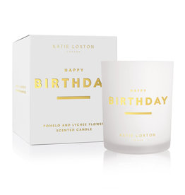 KATIE LOXTON KLC160-4 SENTIMENT CANDLE | HAPPY BIRTHDAY | Pomelo and Lychee  Flower