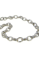 JOHN MEDEIROS N2959-A000 OVAL LINK COLLECTION TWO TONE NECKLACE