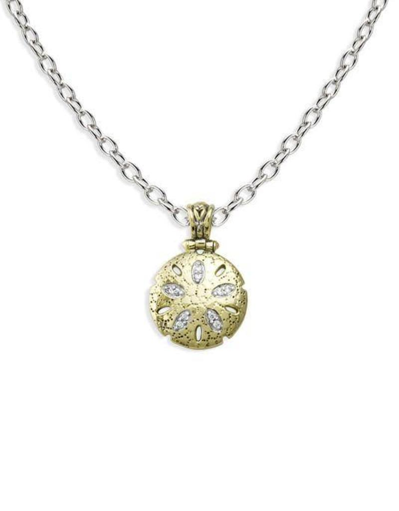 JOHN MEDEIROS K3977-AF03 SEASIDE SAND DOLLAR PENDANT NECKLACE