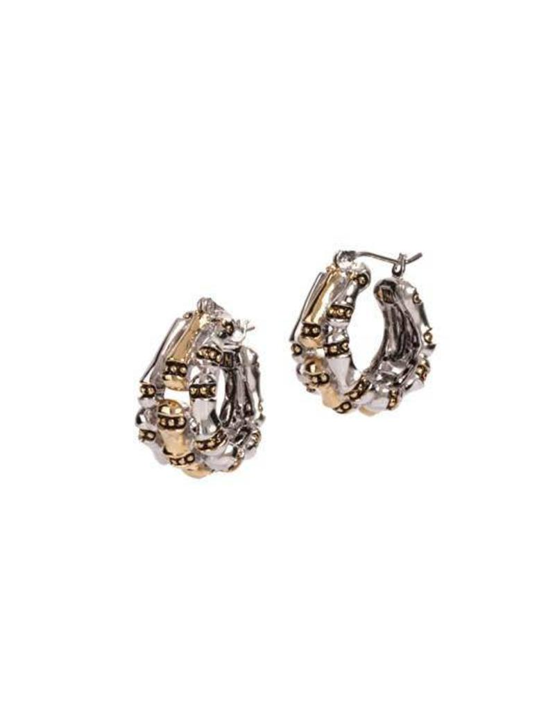 JOHN MEDEIROS G5003-A000 CANIAS COLLECTION THREE ROW HOOP EARRINGS