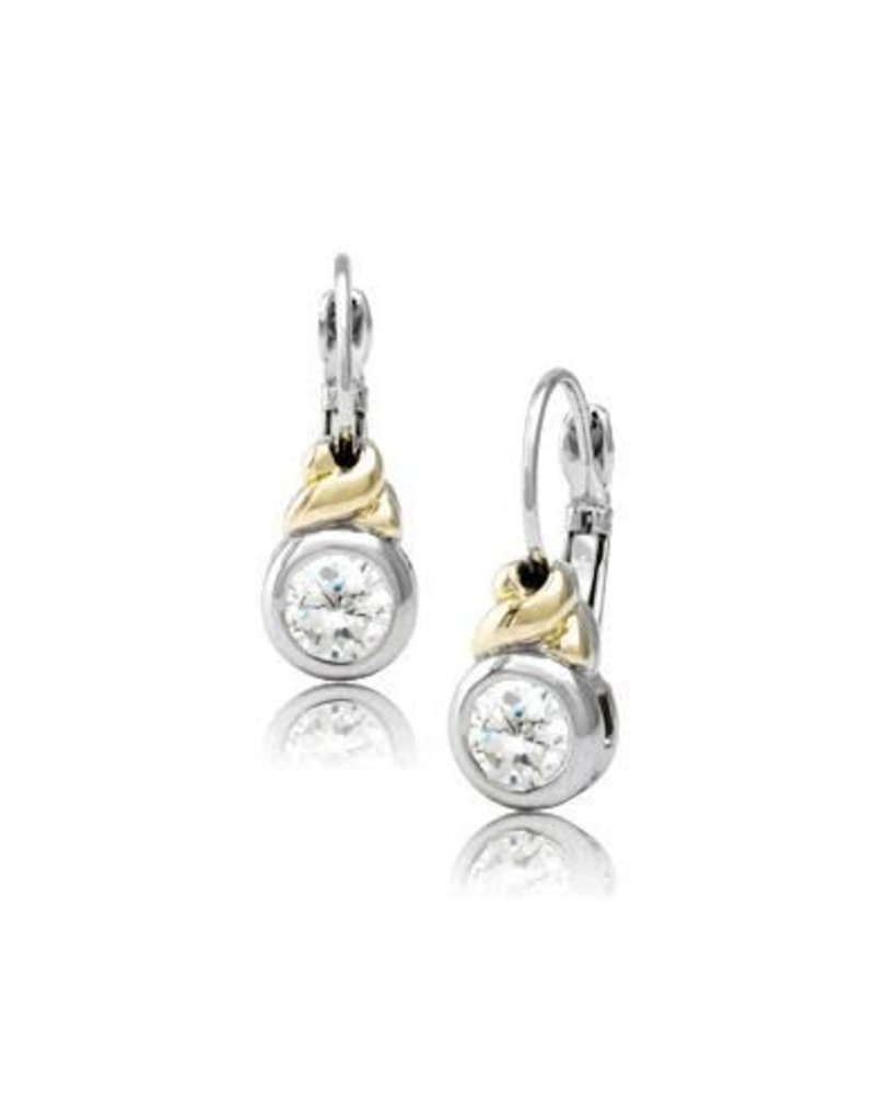JOHN MEDEIROS F3232-AF00 ANTIQUA CZ FRENCH WIRE EARRINGS