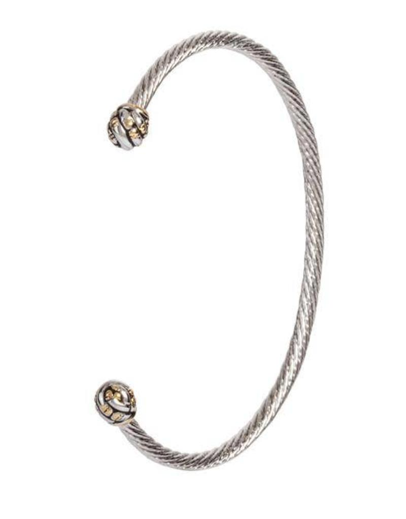JOHN MEDEIROS B4074-A000 CANIAS COLLECTION THIN WIRE CUFF BRACELET