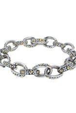 JOHN MEDEIROS B2964-A001 OVAL LINK COLLECTION TWO TONE BRACELET