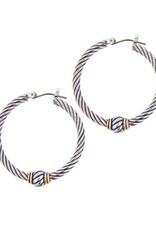 JOHN MEDEIROS G2775-A000 OVAL LINK COLLECTION LARGE TWISTED WIRE HOOP EARRINGS