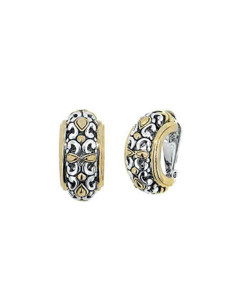 JOHN MEDEIROS D2679-A000 TWISTED BEAD COLLECTION LARGE CLIP EARRINGS Non-Pierced Earrings