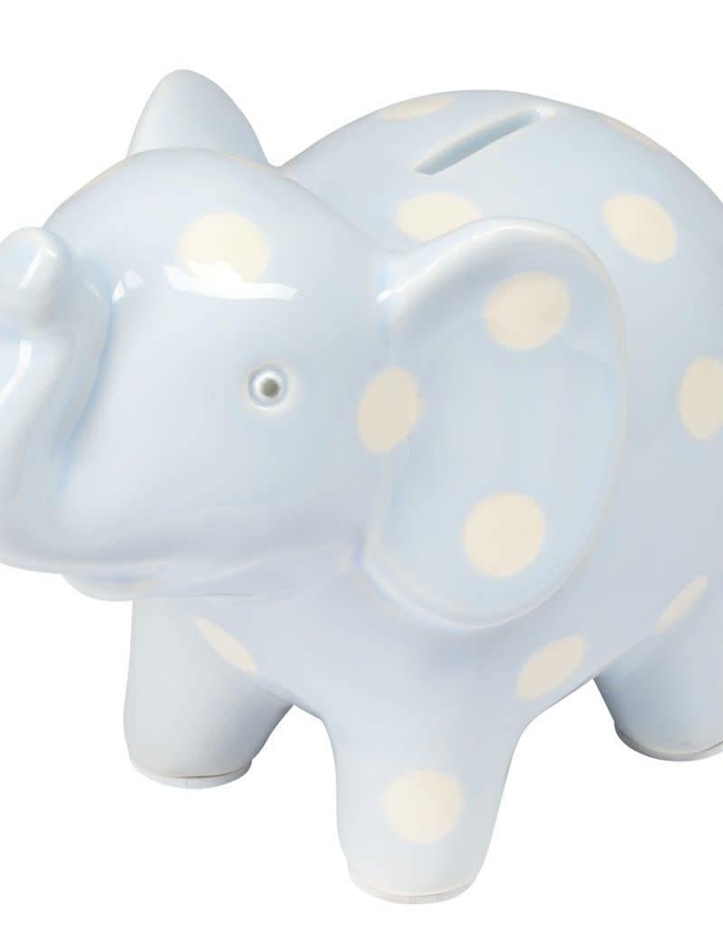 48509 CERAMIC BLUE ELEPHANT BANK