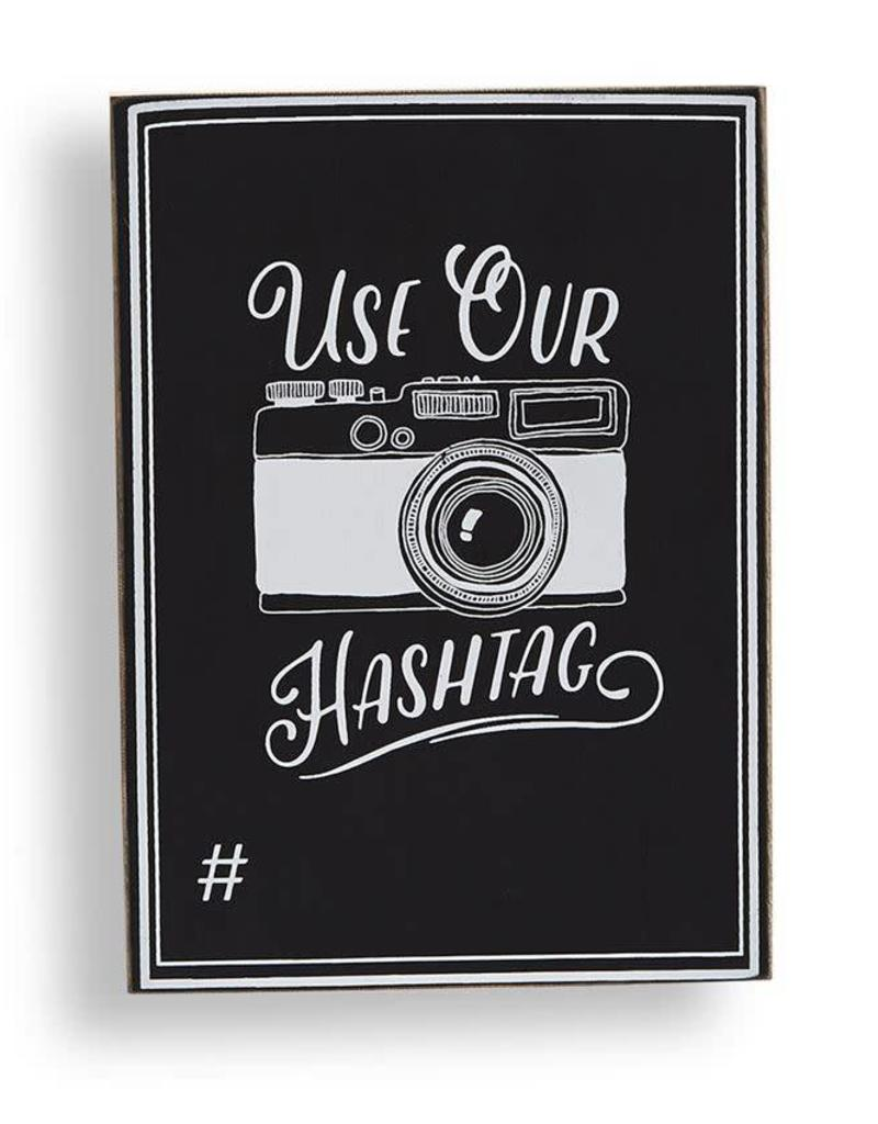 MUD PIE 4345030 HASHTAG CHALKBOARD SIGN