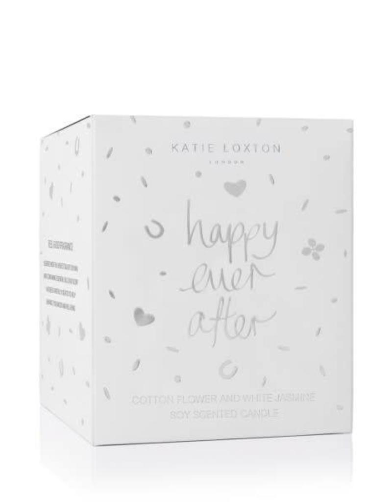 KATIE LOXTON KLC071 ICON CANDLE - HAPPY EVER AFTER - COTTON FLOWER AND WHITE JASMINE - 160GR