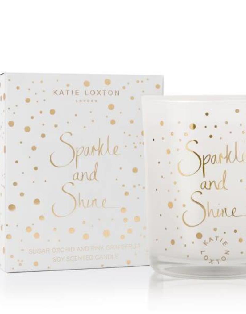 KATIE LOXTON KLC075 ICON CANDLE - SPARKLE AND SHINE - SUGAR ORCHID AND PINK GRAPEFRUIT - 160GR