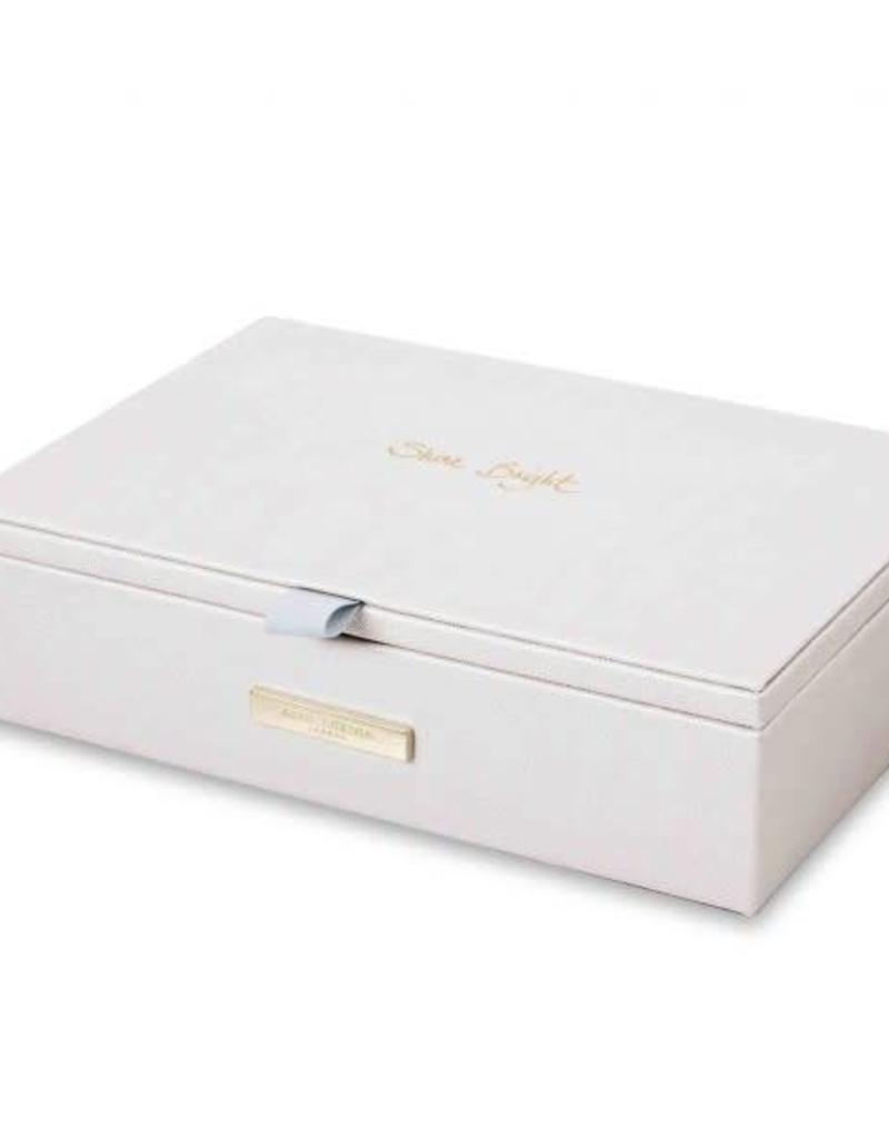 KATIE LOXTON KLB219 JEWELLERY BOX - SHINE BRIGHT - METALLIC WHITE