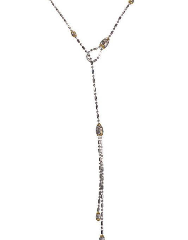 JOHN MEDEIROS N2724-AF00 BEADED LATTICE NECK