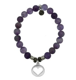 T JAZELLE TJ10108 AMETHYST-HOLLOW HEART