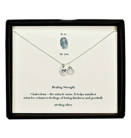 B U SCE243 HEALING STRENGTH SILVER NECKLACE