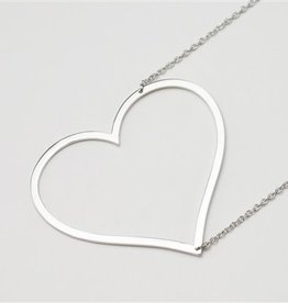 31207 LARGE SIDEWAYS HEART NECKLACE